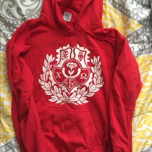 Red Chi Omega Hoodie